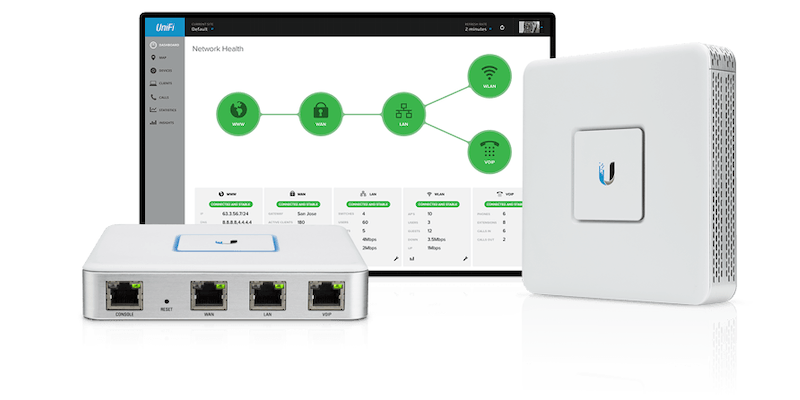 UniFi apparatuur en interface